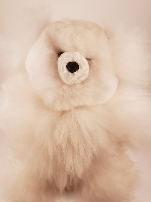 "100% Alpaca Plush Teddy Bear - 12"""