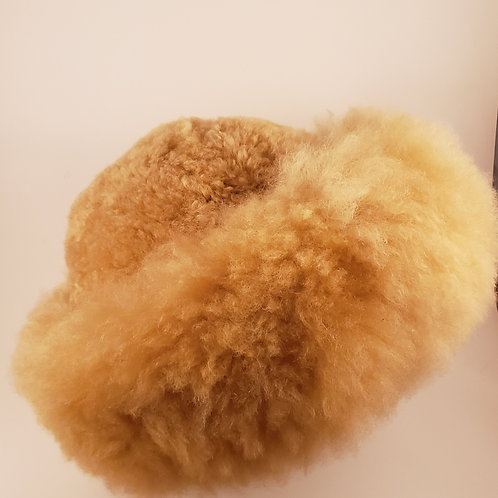 100% Alpaca Fur Hat - Light Fawn