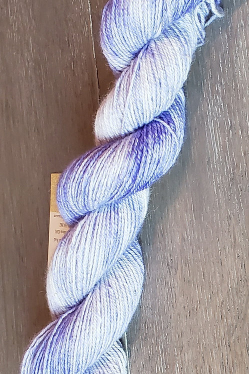 Purple Wash Finger Weight Alpaca Yarn