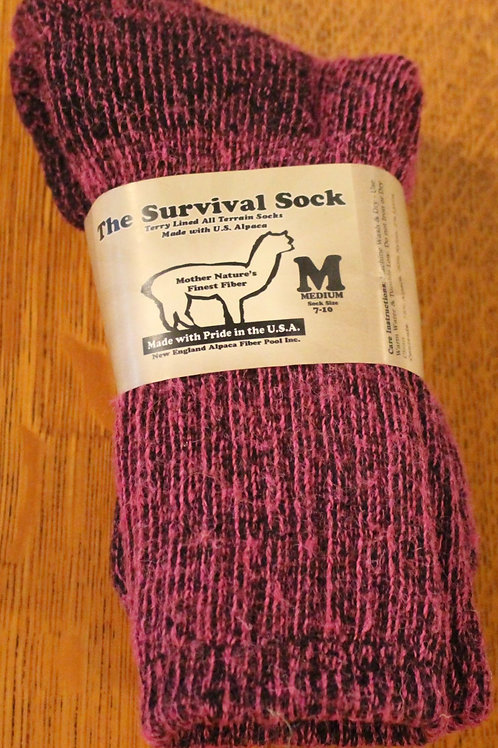Pink Alpaca Survival Sock