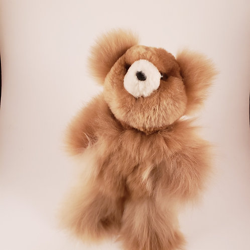 100% Alpaca Plush Teddy Bear - 10""