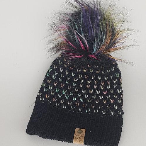 Alpaca Knit Hat with Pom