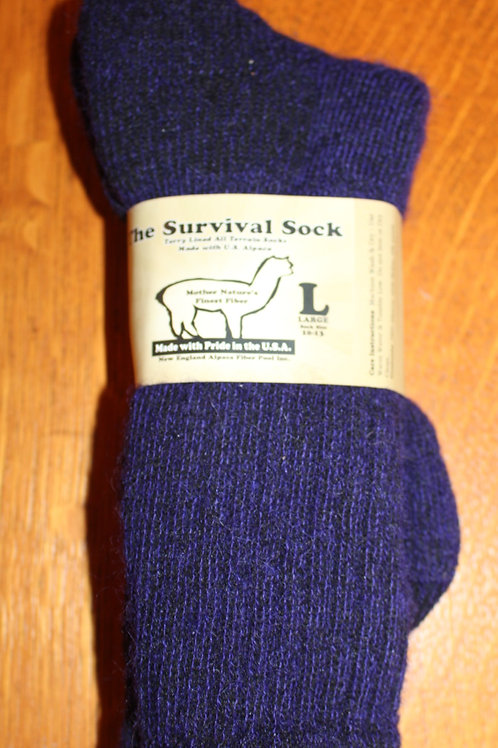 Purple Alpaca Survival Sock