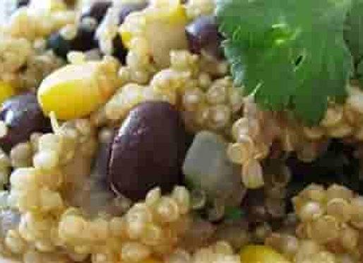 Spicy Quinoa, Rice, & Black Beans