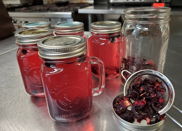 Raspberry Hibiscus Flower Tea