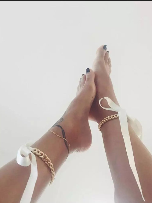 Sexy Ribbon Bow Chain Anklets