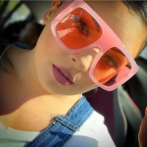 Nude/Soft Pink Oversized Sunglasses