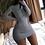 Thumbnail: Long Sleeve Bodycon Dress with Zipper
