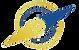 Logo boussole bleu PNG