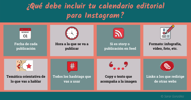 Calendario editorial de Instagram