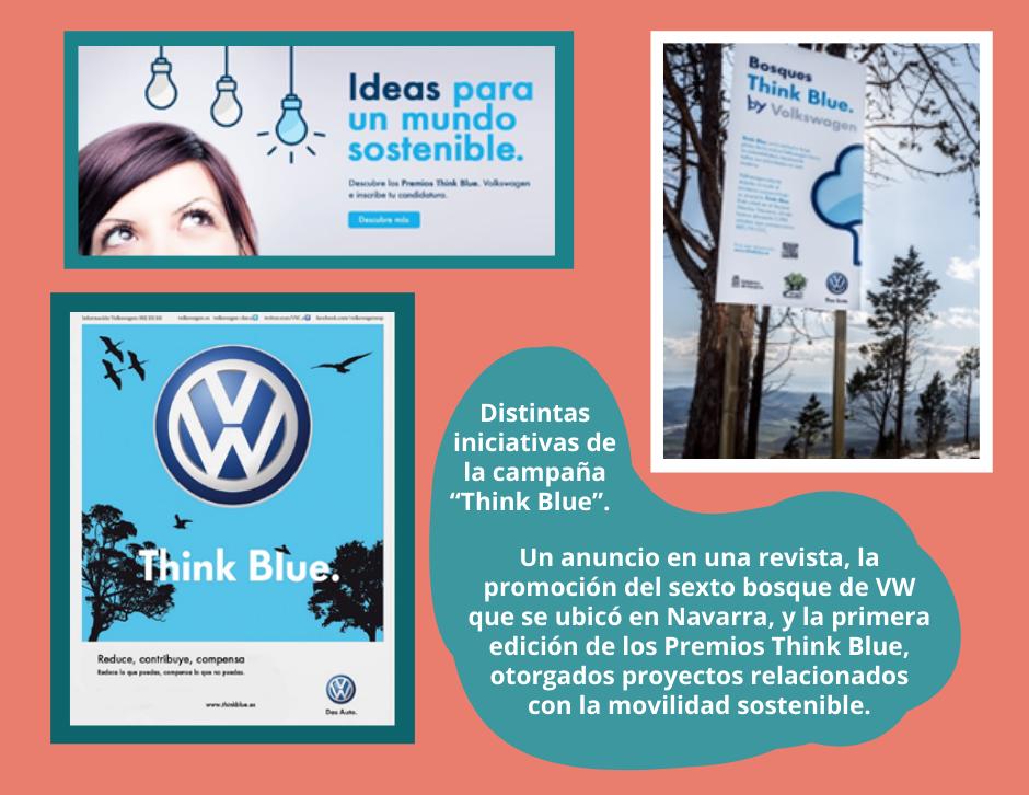 Campaña Think Blue de Volkswagen, apoyando la sostenibilidad y el medioambiente