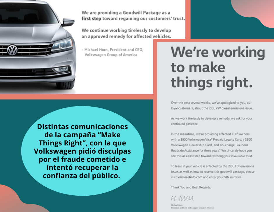 Campaña de Volkswagen para recuperar la confianza de los consumidores