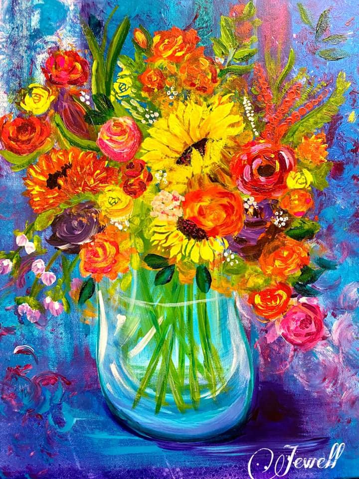 jewel mc flowers vase
