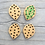 Thumbnail: Stitchable leaf buttons - Set of four