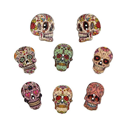 Calavera button