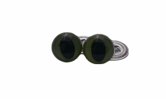 Cat eyes - 12mm green