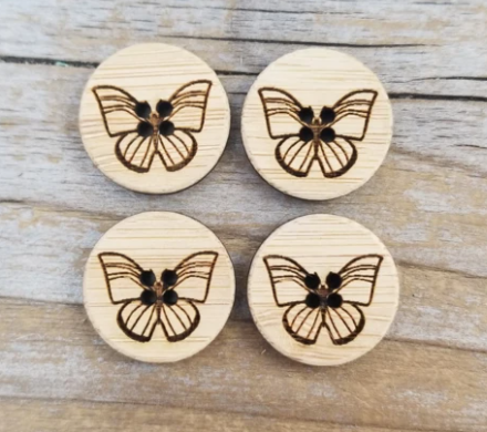 Butterfly buttons - Set of four