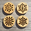 Thumbnail: Stitchable snowflake buttons - Set of four
