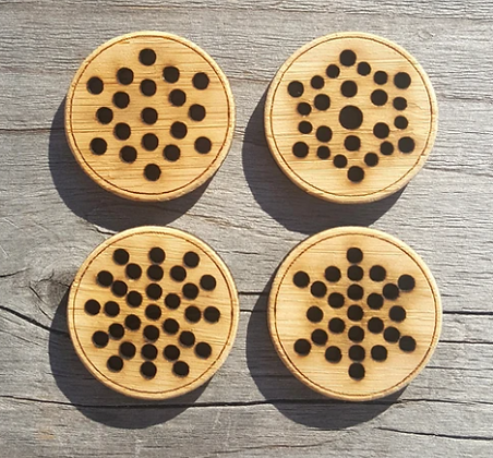 Stitchable snowflake buttons - Set of four