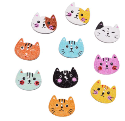 Cat face buttons