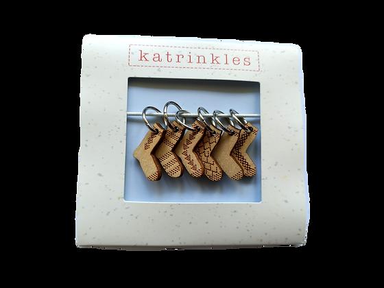 Sock stitch marker set