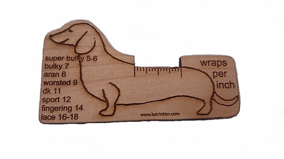 Wraps Per Inch tool - Dachshund