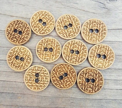Knit buttons - Set of four