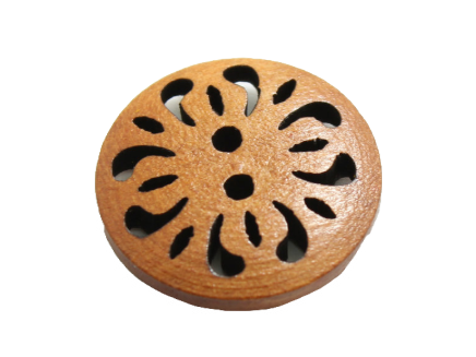 Cut-out wooden button