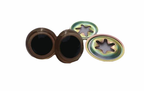 Eyes - 15mm bronze
