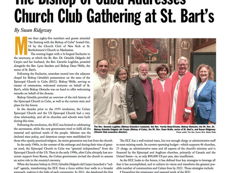 """Bishop Griselda's NY visit featured in """"The Episcopal New Yorker - Fall 2017"""""""