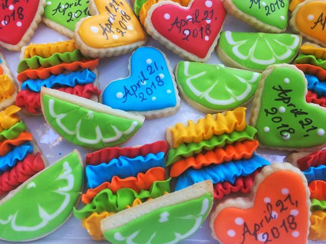Fiesta fun engagement shower mini cookies.jpg