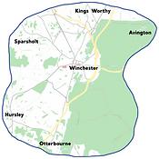 Winchester-Otterbourne-Sparsholt-Hursley