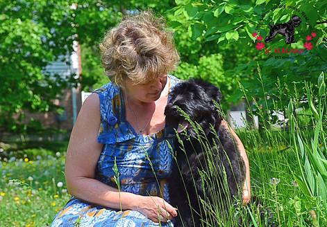 Cuddling with three month old Honey Iz Teremka