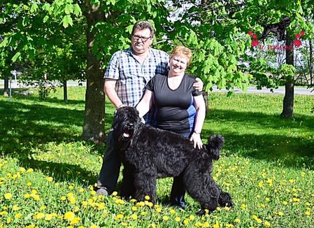 Sasha and Her Owners, Vadim and Olga