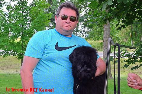 Vadim with Black Russian Terrier Sasha