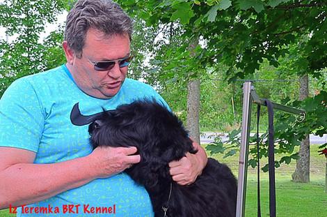 One Happy Black Russian Terrier