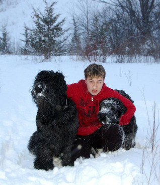 Ruslan With His Friends