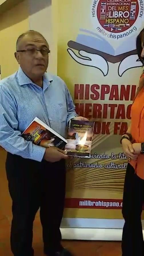 Entrevista al escritor y poeta Agustin Villacis, presente en Hispanic Heritage Book Fair que se celebra hasta este viernes en Main Library, evento organizado por Hispanic Heritage Literature