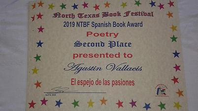Premio NOrth texas book festival Agustin