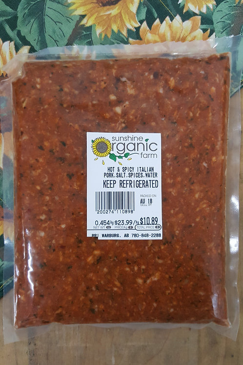 Hot & Spicy Italian Meat (454 gm pack)