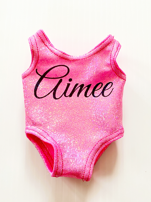 Pink Personalised Teddy Leotard