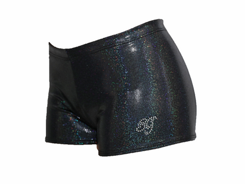 Black Hologram Shorts