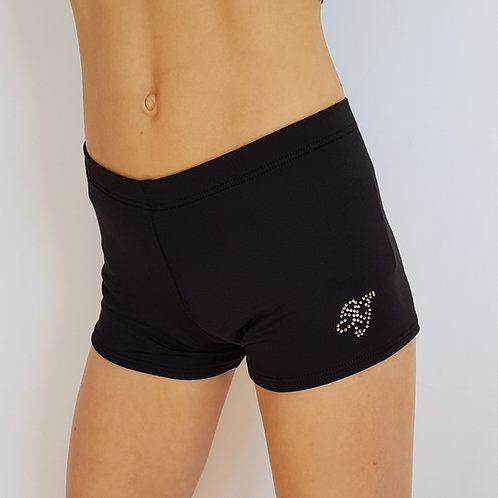 Black Matte Shorts