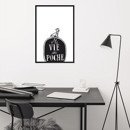 """Tableau """"Ma vie de poche"""" 24×36 pouces"""
