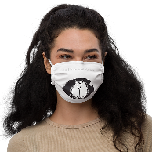 "Face mask ""Si le Silence avait des Ailes"""