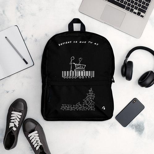 """Backpack noir """"Deviens ce que tu as"""""""