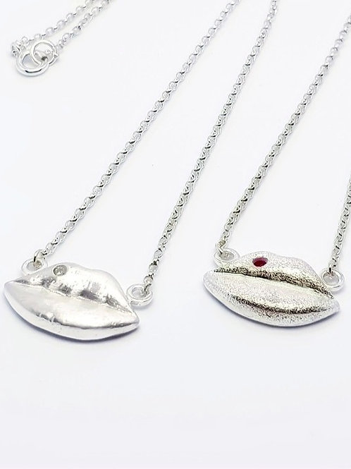 Lips Don't Lie! Sterling and Fine Silver Necklace