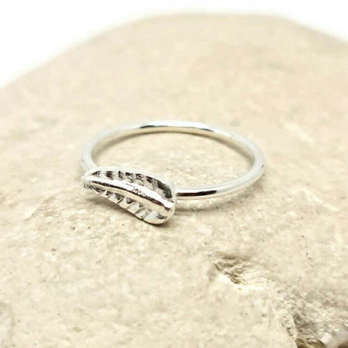 Sterling Silver Feather Ring Skinni Minni Series
