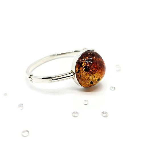 Sterling Silver Statement Ombre Amber Bangle
