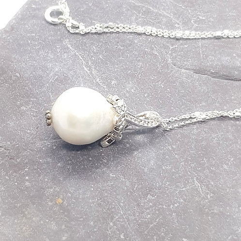 Large Baroque Freshwater Cultured Pearl Solitaire